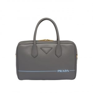 Prada Gray Mirage Medium Top Handle Bag
