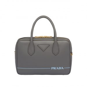 Prada Gray Mirage Small Top Handle Bag