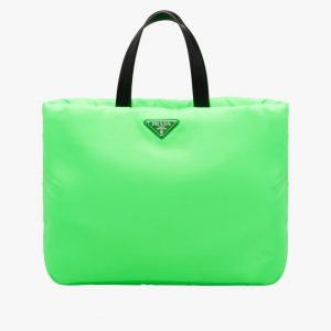 Prada Green Medium Padded Nylon Tote Bag