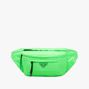 Prada Green Nylon Belt Bag