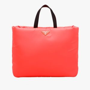 Prada Red Large Padded Nylon Tote Bag