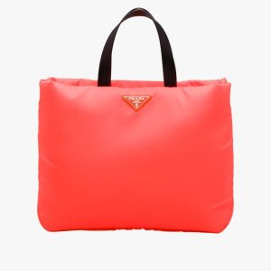 Prada Red Medium Padded Nylon Tote Bag