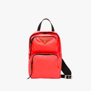 Prada Red Nylon One-Shoulder Backpack Bag