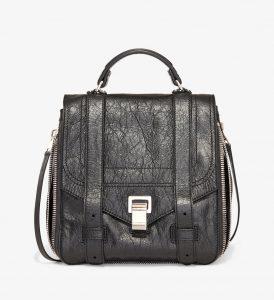 Proenza Schouler Black PS1+ Zip Backpack Bag