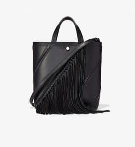 Proenza Schouler Black Tasseled Small Hex Tote Bag