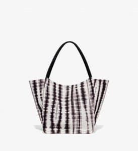 Proenza Schouler Black:White Tie Dye L Tote Bag