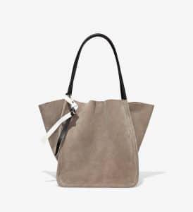 Proenza Schouler Dark Taupe Suede L Tote Bag