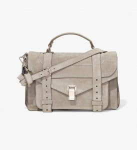 Proenza Schouler Dark Taupe Suede PS1 Medium Bag