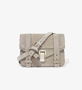 Proenza Schouler Dark Taupe Suede PS1 Mini Crossbody Bag