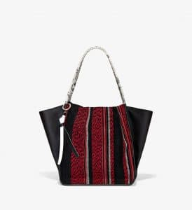 Proenza Schouler Red/Black Mix Woven Extra Large Tote Bag