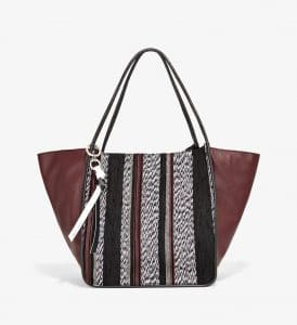 Proenza Schouler White/Black Mix Woven Extra Large Tote Bag