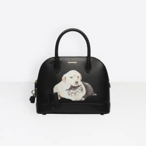 Balenciaga Black Puppy and Kitten Ville Top Handle S Bag