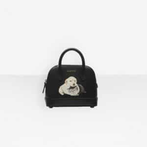 Balenciaga Black Puppy and Kitten Ville Top Handle XXS Bag