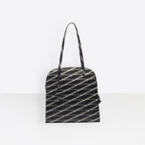 Balenciaga Black/Silver Monogramme Miami Bag M