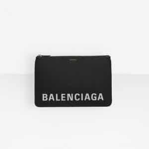 Balenciaga Black/White Ville Pouch M Bag