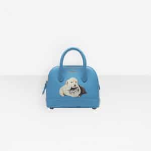 Balenciaga Bleu Turquoise Puppy and Kitten Ville Top Handle XXS Bag