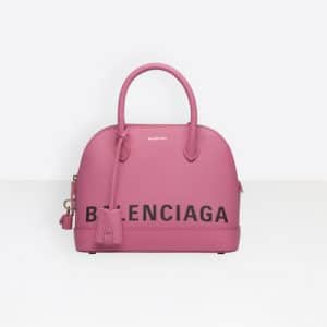 Balenciaga Bubble Gum Logo Ville Top Handle S Bag