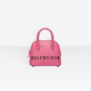 Balenciaga Bubble Gum Logo Ville Top Handle XXS Bag