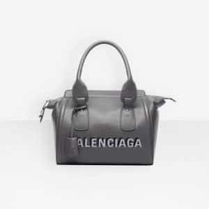 Balenciaga Gris Cendre Monday Bowling S Bag