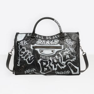 Balenciaga Noir/Blanc Classic City Graffiti Bag
