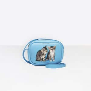 Balenciaga Turquoise Kitten Everyday Camera Bag XS