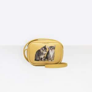 Balenciaga Yellow Kitten Everyday Camera Bag XS