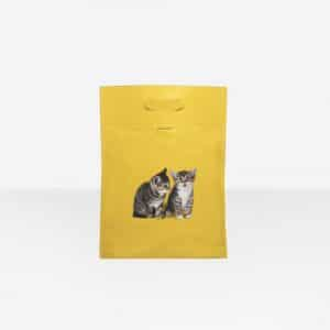 Balenciaga Yellow Kitten Plastic Bag Shopper S