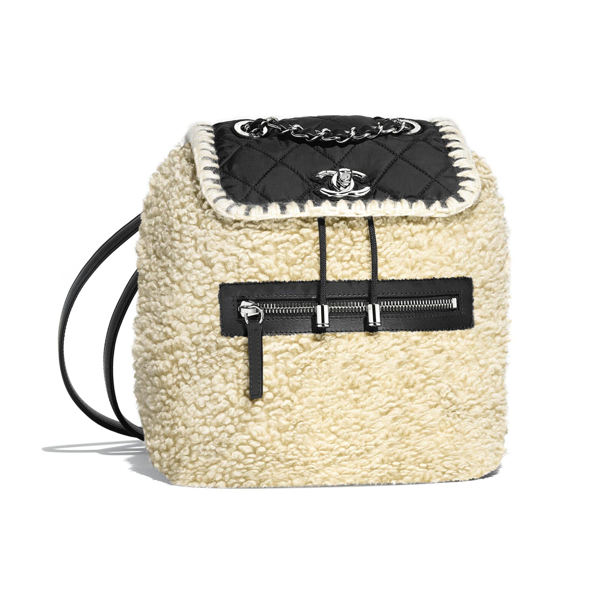 Image result for Chanel Wool-Nylon-Calfskin Backpack