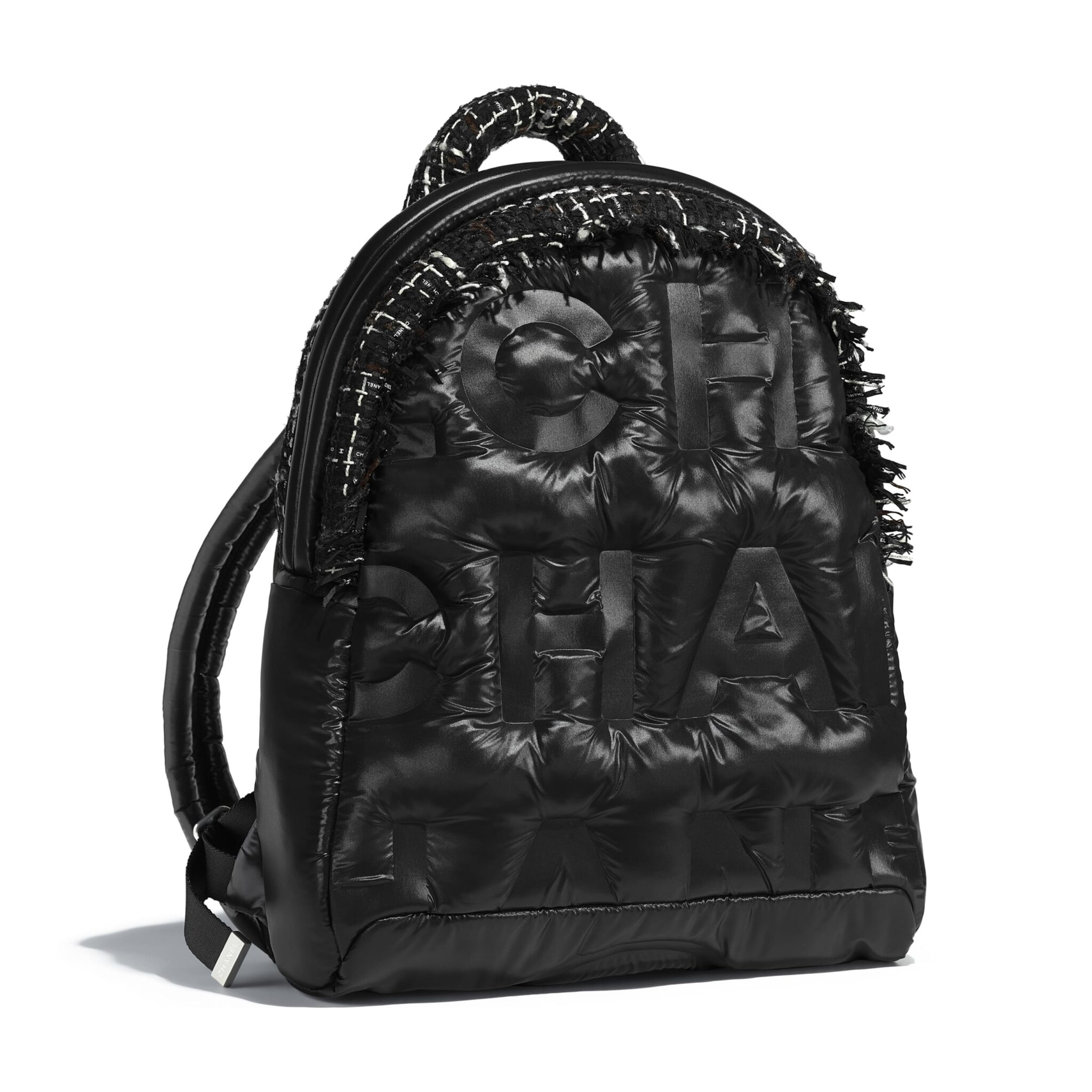 a1ff22262e9b Chanel Logo Embossed Nylon Doudoune Backpack- Fenix Toulouse Handball