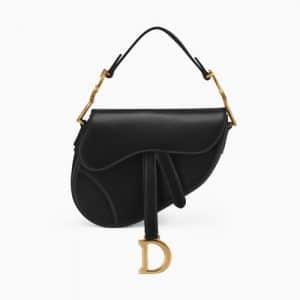 Dior Black Calfskin Mini Saddle Bag