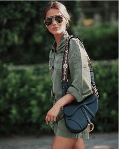 Dior Black Calfskin Saddle Bag 2