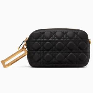 Dior Black Lambskin Diorquake Clutch Bag