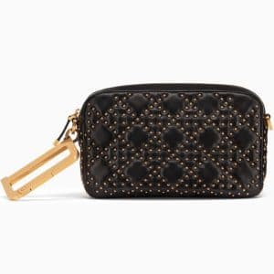 Dior Black Studded Lambskin Diorquake Clutch Bag