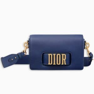 Dior Blue Calfskin Dio(r)evolution Flap Bag
