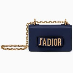 Dior Blue Calfskin Mini J'adior Flap Bag