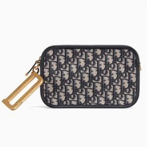 Dior Blue Oblique Canvas Diorquake Clutch Bag