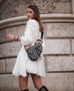 Dior Blue Oblique Canvas Saddle Bag 2
