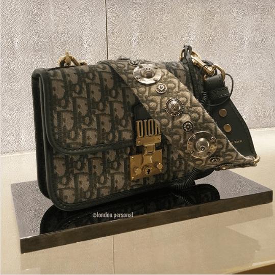 Dior Green Oblique Canvas Dioraddict Flap Bag