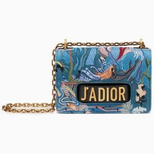 Dior Multicolor Embroidered J'adior Flap Bag