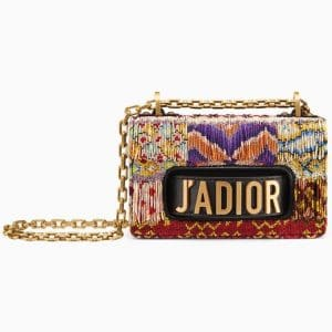 Dior Multicolor Embroidered Mini J'adior Flap Bag