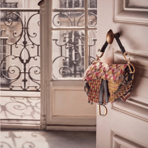 Dior Multicolor Embroidered Saddle Bag
