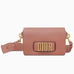 Dior Pink Calfskin Dio(r)evolution Flap Bag