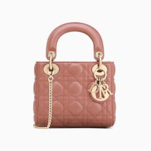 Dior Pink Mini Lady Dior Bag
