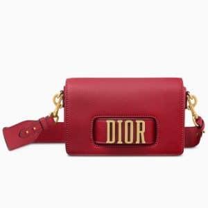 Dior Red Calfskin Dio(r)evolution Flap Bag