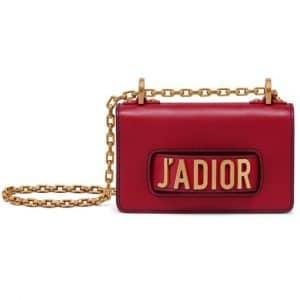 Dior Red Calfskin Mini J'adior Flap Bag