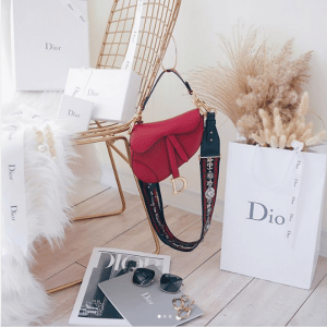Dior Red Calfskin Saddle Bag 2
