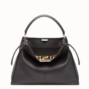 Fendi Black Calfskin/Sheepskin Peekaboo X-Lite Bag
