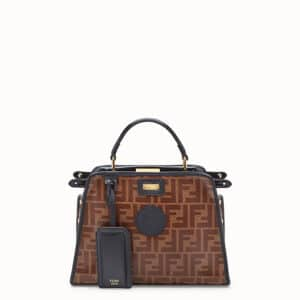 Fendi Black Patent Small Peekaboo Defender Bag 1