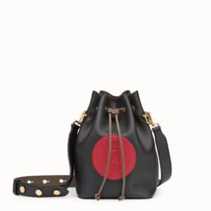 Fendi Black Stamp Patch Mon Tresor Bag