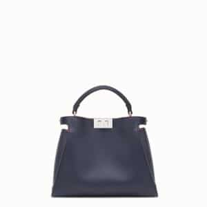 Fendi Blue Medium Peekaboo Essential Bag